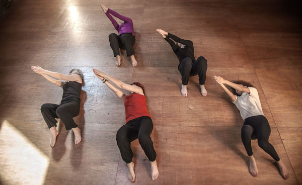 Older adults in a Feldenkrais movement group class