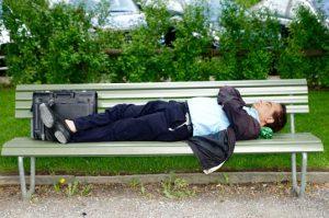 Business man lying down