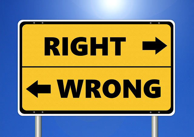 Right and Wrong Sign
