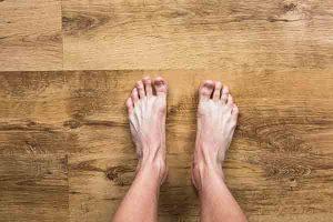 Bare feet standing
