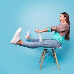 Woman enjoying sitting
