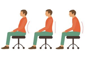 Exercise for sitting comfortably